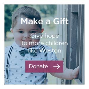 Donate to help more kids like Weston